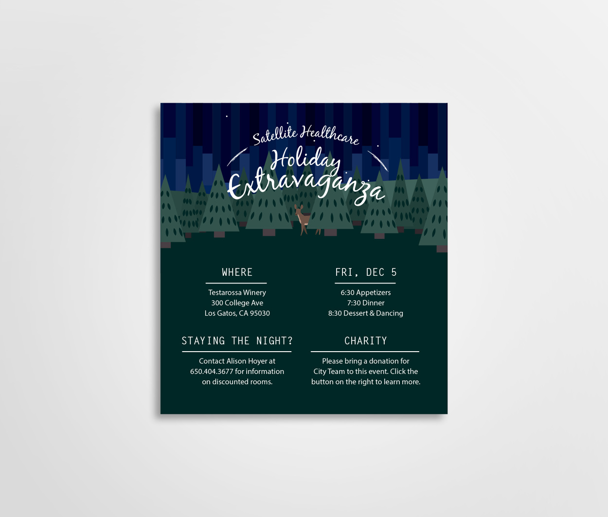 Holiday Invite is great invitation template