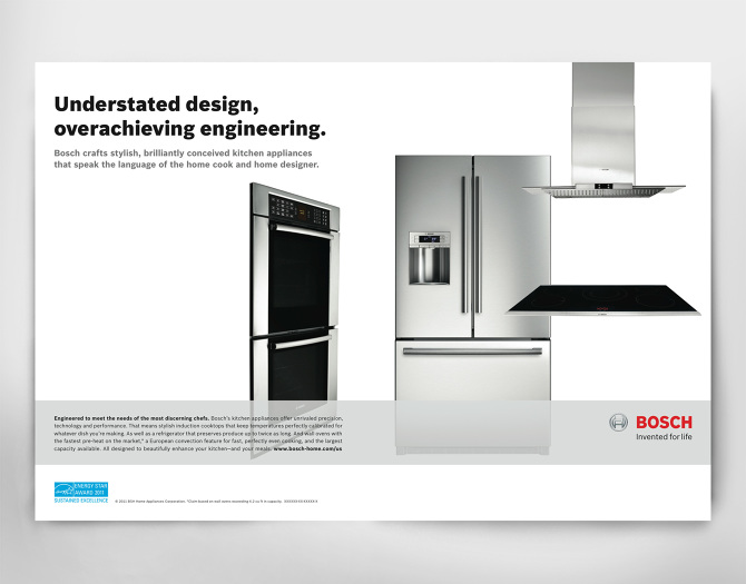 Bosch Ads & brochure - Hera Cheung on the originals house, john deere house, chicago fire house,